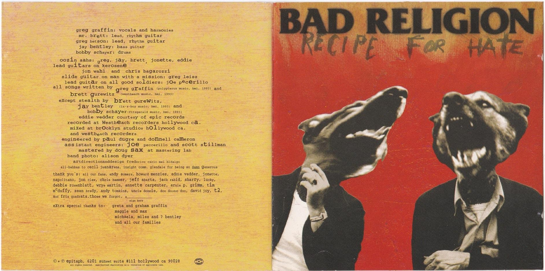 Bad Religion - Recipe For Hate | Epitaph Records